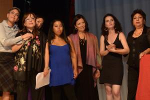 (Left to right:) Laurl Adriana Soto Rubalcava, Elena Aranda, Angela Diaz Girardi, Ana Karina Casas Ibarra, Carmen Reina Nelson, Ligia Batista Silverman, Rosa Elena Valle Cerezo