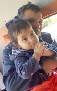 Martin and his granddaughter Aleynah.