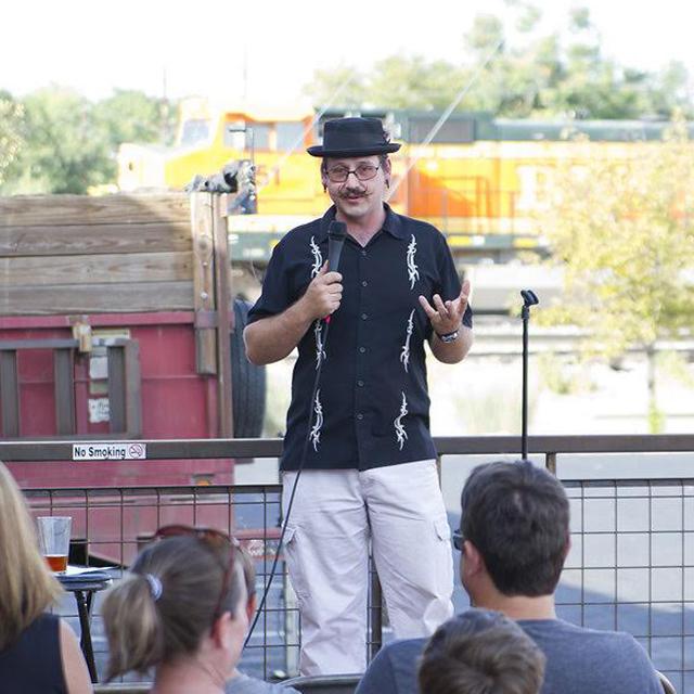 Fort Collins comic Jsin Novak entertains a crowd.