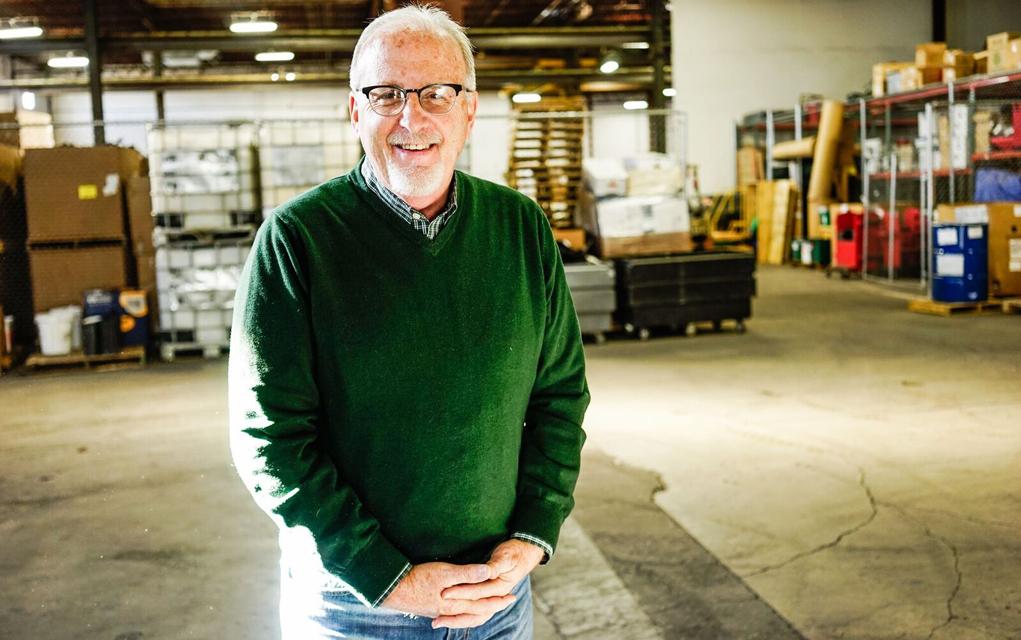 Blue Star founder Bill Morris at the Denver facility.